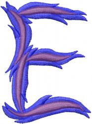 Wild E embroidery design