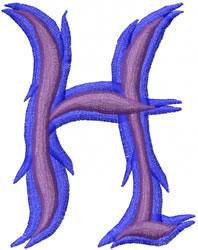 Wild H embroidery design