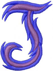 Wild J embroidery design