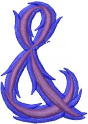Wild Ampersand embroidery design