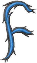 Wild f embroidery design