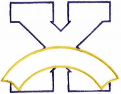 Athletic Banner X embroidery design
