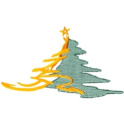 Stylized Christmas Tree embroidery design