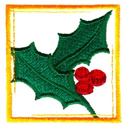 Holly Box embroidery design