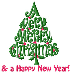 And a Happy New Year embroidery design