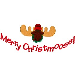 Merry Christmoose! embroidery design