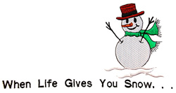 Snowman sign embroidery design