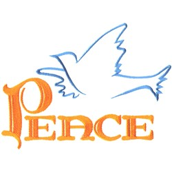 Peace Dove Outline embroidery design