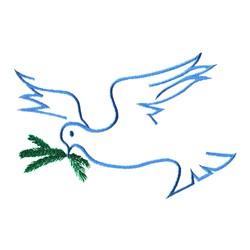 Christmas Dove embroidery design