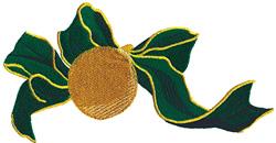Ball ornament & Ribbon embroidery design