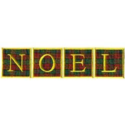Noel Appliqué embroidery design