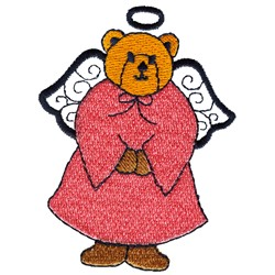 Angel Bear embroidery design