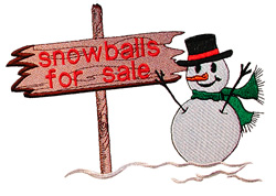 Snowball sale embroidery design