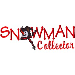 Snowman Collector  embroidery design