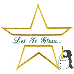 Let it Glow embroidery design