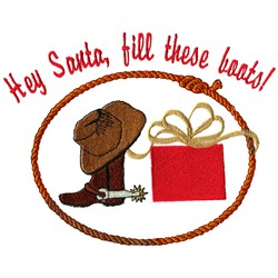 Filling Boots Santa embroidery design