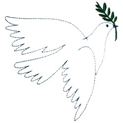 Dove Olive Branch embroidery design