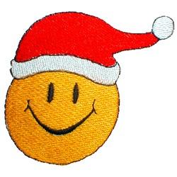 Smiley Santa Hat embroidery design
