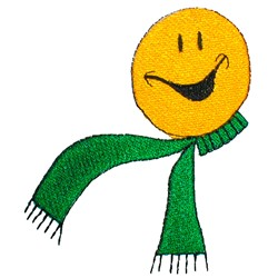Smiley with Scarf embroidery design