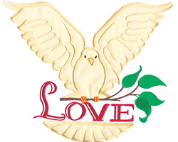 Love Dove  embroidery design