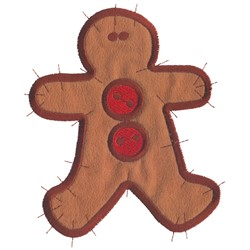Applique Gingerbread embroidery design