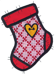 Applique Stocking embroidery design