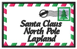 Santa Envelope embroidery design