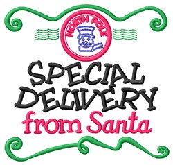 Christmas Special Delivery embroidery design