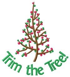 Trim The Xmas Tree! embroidery design