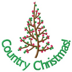 Country Christmas! embroidery design