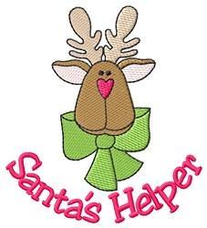 Santas Helper Reindeer embroidery design