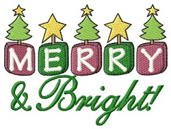 Merry & Bright Xmas! embroidery design
