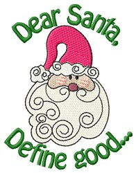Believe In Santa Claus embroidery design
