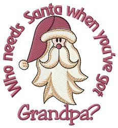 Grandpa Is My Santa embroidery design