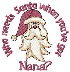 Nana Is My Santa embroidery design