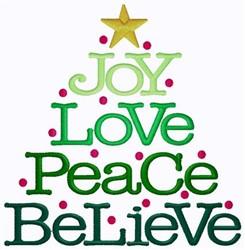 Joyful Christmas Tree embroidery design