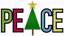 Peace At Christmas embroidery design