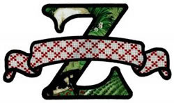 Applique Banner Z embroidery design