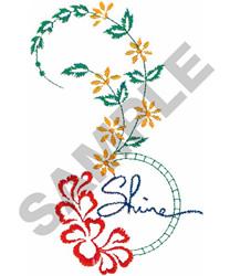 SHINE FLORAL BORDER embroidery design