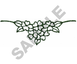 GREEN LEAVES OUTLINE embroidery design