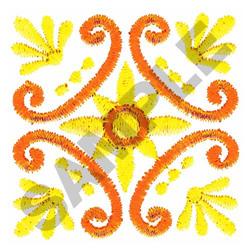 SQUARE SCROLL embroidery design