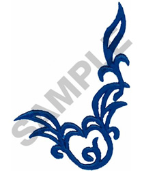 BLUE SCROLL embroidery design