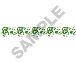 FLOWER BORDER #226 embroidery design