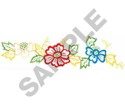 FLOWER BORDER #238 embroidery design