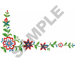FLORAL BORDER #239 embroidery design