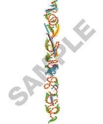 FLORAL BORDER #285 embroidery design