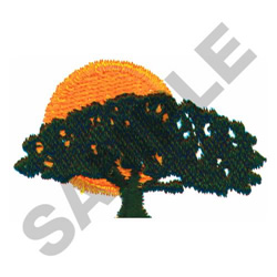 TREE & SUN embroidery design