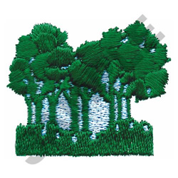 TREES W/ BACKGROUND embroidery design