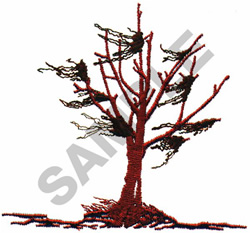 WITHERED TREE embroidery design