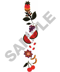 FRUIT BORDER embroidery design
